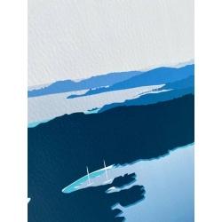 Porquerolles vue d'en haut / détail sur l'impression pigmentaire et le papier fine art